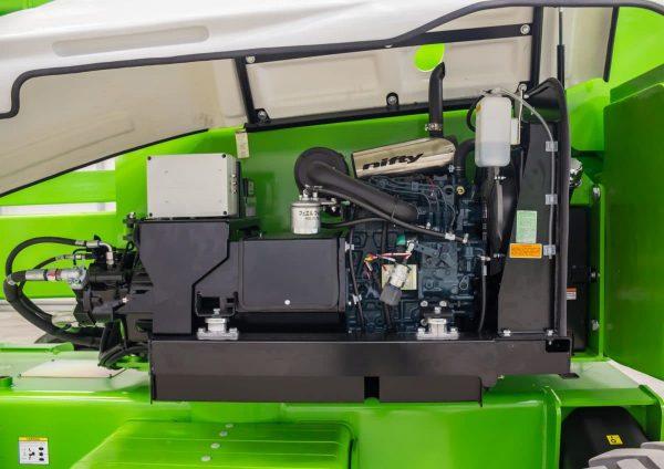 Moteur hybride nacelle Niftylift HR28 Hybride, 28 mètres de hauteur de travail